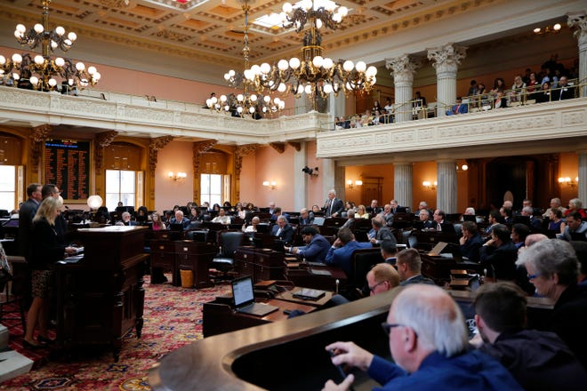 The Ohio House of Representatives hold session at the Ohio Statehouse in downtown Columbus, Ohio, on Wednesday, June 26, 2019.