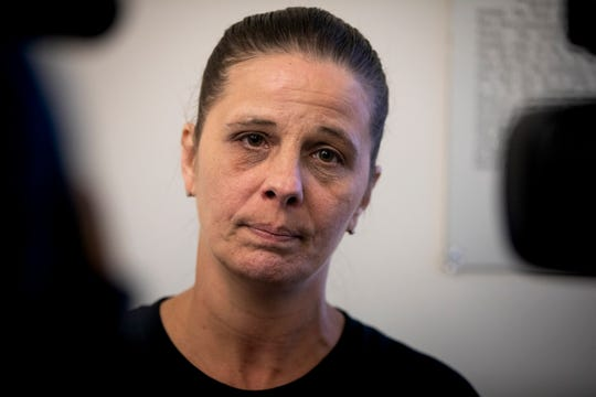 Mary Julick talks to local media, after her son, Jacob Julick's arraignment in Covington Thursday, June 27, 2019. Julick was captured Tuesday evening after a SWAT standoff on McHenry Avenue in Cincinnati's West Side after a nearly three-week police search. Julick is being held on a $1 million bond.