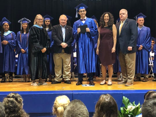On Tuesday, June 25, members of the Middlesex County Board of Chosen Freeholders attended high school graduation ceremonies at all five Middlesex County Vocational and Technical Schools campuses.