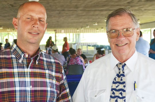 (Left to right)David DeFrange, of Hunterdon County, and Dr. Earnest Beier, of Gloucester County, the two newest members of the State Board of Agriculture.