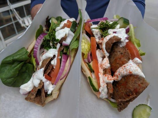Gyro's from Gazali's Mediterranean Grill.