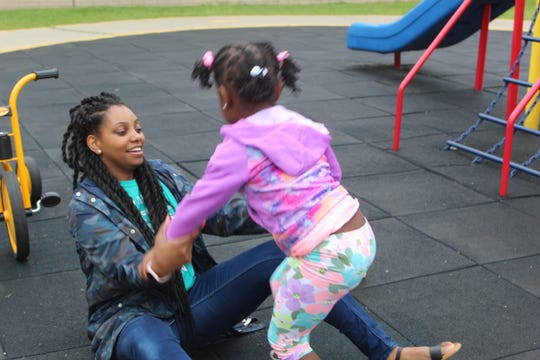 """I hold back a lot of emotions to just stay strong for that child so it helps to be able to let loose with my peers and see that we're all in the same situation,"" said Shantell Buck, a lead teacher at the Hiveley Head Start center in Inkster, Michigan"