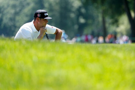 Gary Woodland during Thursday's Round 1 of the Rocket Mortgage Classic at the Detroit Golf Club.