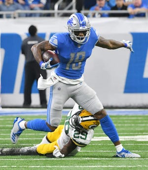 Wide receiver Kenny Golladay led the Lions in receptions (70) and receiving yards (1,063) last season.