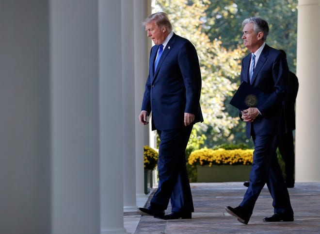 """Trump is keeping up his attacks on Federal Reserve Chairman Powell, saying he """"made"""" Powell but now would like to trade him in for Mario Draghi, the head of the European Central Bank."""