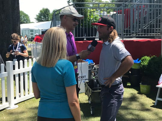 Joey Garber does post-round interviews Thursday.