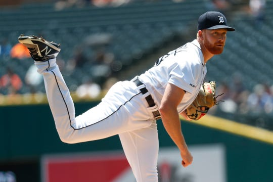 Tigers pitcher Spencer Turnbull lasted just two innings Thursday against the Rangers.
