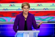 Democratic presidential candidate Sen. Elizabeth Warren, D-Mass., speaks during a Democratic primary debate.