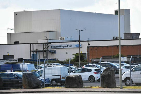 "The Ford engine plant near Bridgend, south Wales, Thursday June 6, 2019. The Ford engine plant in Bridgend that employs 1,700 people is ""economically unsustainable"" and will close next year, the carmaker announced, part of restructuring efforts."