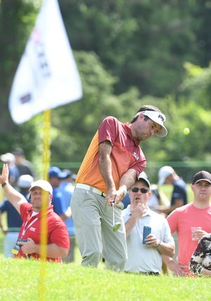 Bubba Watson was responsible for one of the four eagles recorded at the par-5 seventh hole during Thursday's first round.