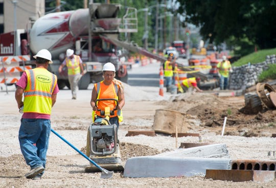 Construction continues at the intersection of Weinbach and Lincoln Ave. Thursday, June 27, 2019.