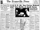 The Evansville Press front page from June 27, 1950.