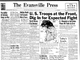 The Evansville Press front page from July 3, 1950.