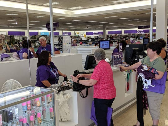 Customers flooded the new Gordmans, 2182 Sean Drive, for its opening day.