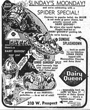A Dairy Queen advertisement that ran in Fort Collins in 1969 around the July 20 moon landing.