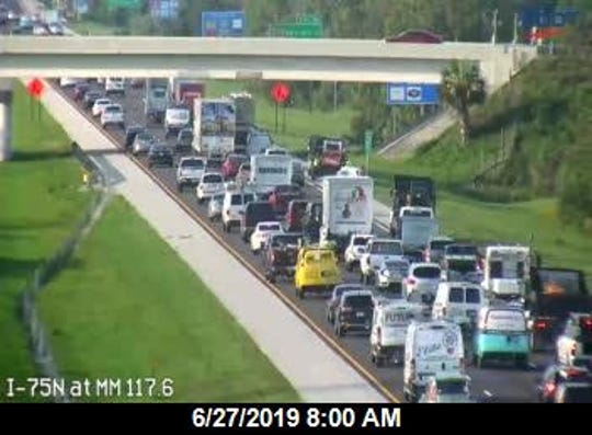 A vehicle crash is causing congestion on the southbound lanes of Interstate 75 near Bonita Beach Road, according to Florida Highway Patrol.