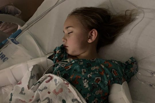 Dasha Dorofeev, 8, suffered a number of criticalinjuries when the car she was riding in spun out on rain-slicked Alico Road June 15 and then smashed into a wood power pole. Suffering fromtraumatic brain injuries, Dashawas transported to Tampa General Hospital for pediatric neurological care.
