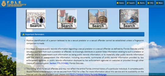 FDLE Offender Search