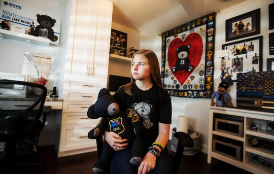 Cape Coral resident, Megan O'Grady, 17,  has spent the last two years making stuffed bears for the families of fallen officers. She uses the shirt of the uniform from the fallen officer to make the bear. Once finished the bear is presented back to the family in person by O'Grady. She was inspired to make the bears when the police officers in Dallas were ambushed. She makes the bears under the name of Blue Line Bears.