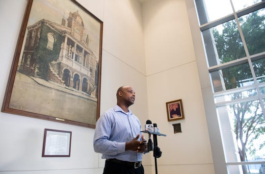 Bruce Wilson talks about access to footage from law enforcement body cameras during a press conference Thursday, June 27, 2019.