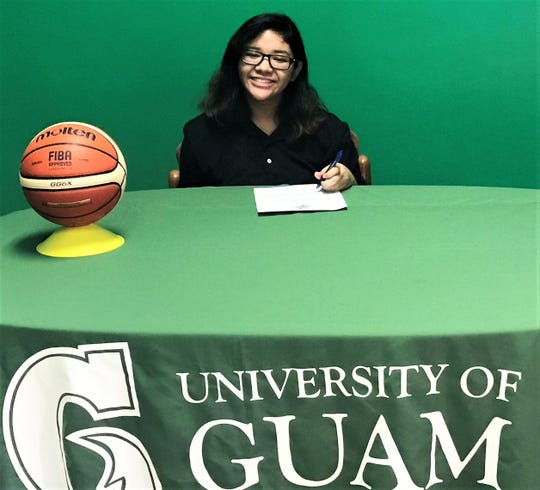 Jezzy Yeban signed a letter of intent and accepted a partial scholarship to play varsity basketball for the University of Guam Lady Tritons, the university announced on Thursday. The Tritons' basketball season kicks off Sept. 9.