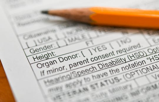 The organ donor option that could be found on the current Guam Driver's License and Identification Card Application form available at the Guam Department of Revenue and Taxation's Motor Vehicle Division on Thursday, June 27, 2019.