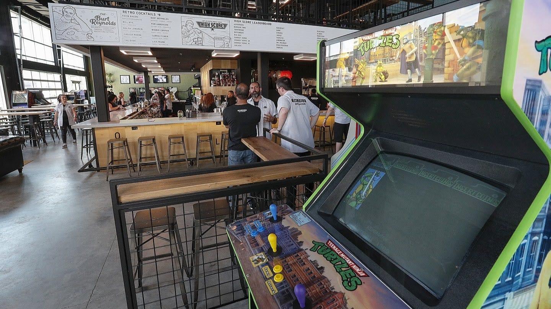 Peek inside the new 16-Bit Bar + Arcade