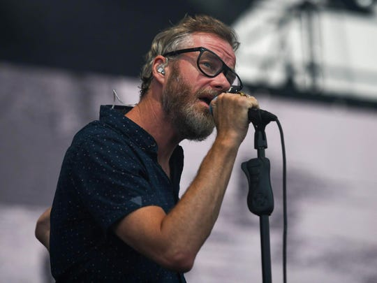 Matt Berninger performs with the National Wednesday at the Farm Bureau Insurance Lawn at White River State Park.