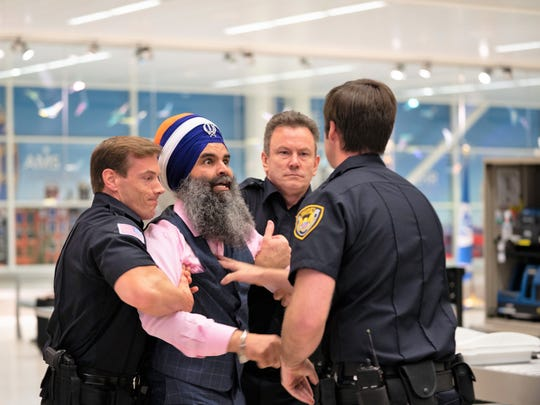 "Fishers resident Gurinder Singh portrays himself in ""Singh,"" a short film that depicts a 2007 incident at Buffalo Niagara International Airport."