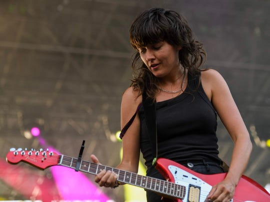 Courtney Barnett performs Wednesday at the Farm Bureau Insurance Lawn at White River State Park.