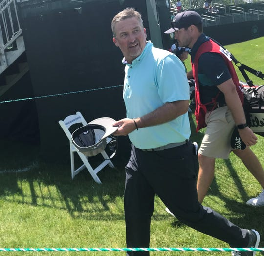Peru's Chris Smith after opening with a 6-over 76 on Thursday at the U.S. Senior Open in his PGA Tour Champions debut