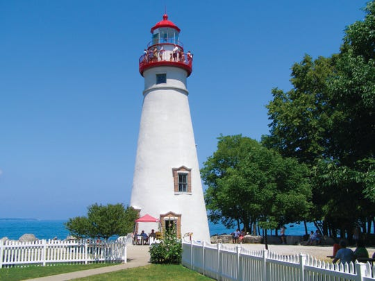 Marble Lighthouse on the west side of Lake Erie in Ohio.