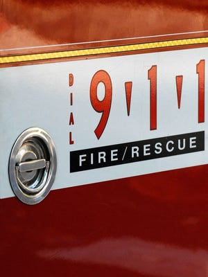 A detail of a Lafayette Fire Department engine.