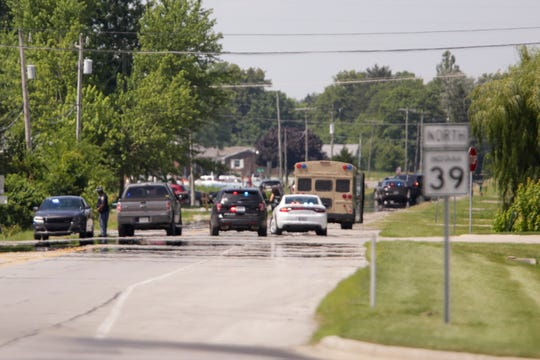 Law enforcement agencies respond to a standoff with rape and kidnapping suspect Paul Etter on Ind. 39 on Thursday, June 27, 2019, in Boone County.