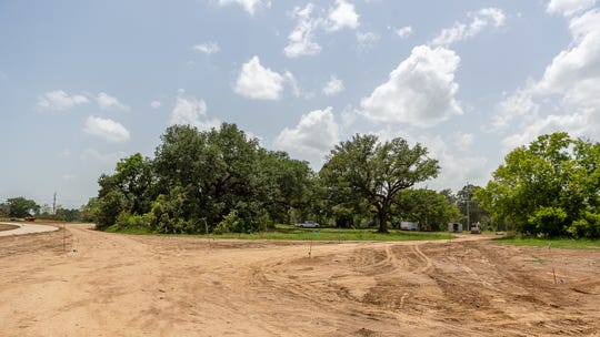 Moncus Park Executive Director Elizabeth Brooks discusses the current status of construction at Moncus Park.  Thursday, June 27, 2019.