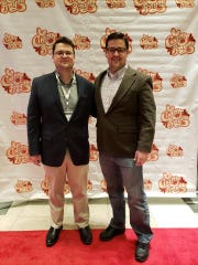 Nathan and David Rabalais at their world premier of 'Finding Cajun' at 2019 Cinema on the Bayou.
