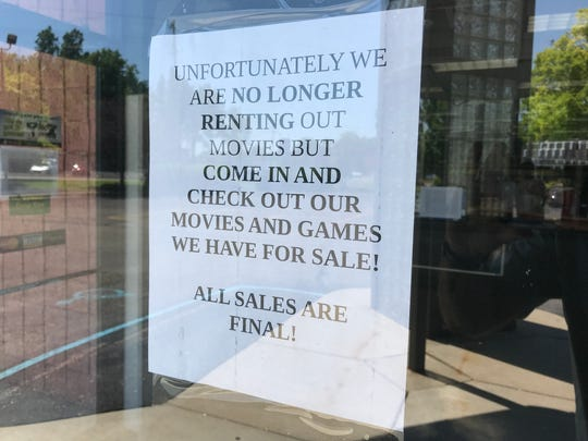 A sign at the Family Video location on Waverly Road. The movie rental location is expected to close.