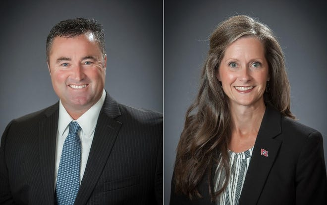 Mike Wissman and Cheryl Pardue are running for mayor of Arlington.