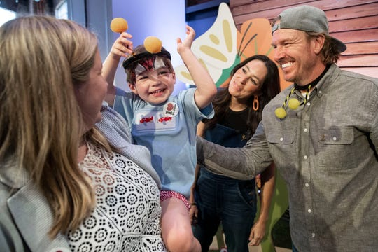 St. Jude patients and their families celebrate at the Target Bullseye Bash with Chip and Joanna Gaines at St. Jude Children's Research Hospital on Wednesday, June 19, 2019.
