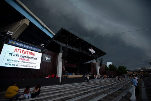 Summerfest music stopped at some stages due to fast-moving thunderstorm