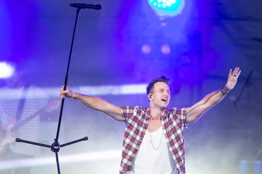 Russell Dickerson opens for Thomas Rhett at the American Family Insurance Amphitheater on June 26, 2019.