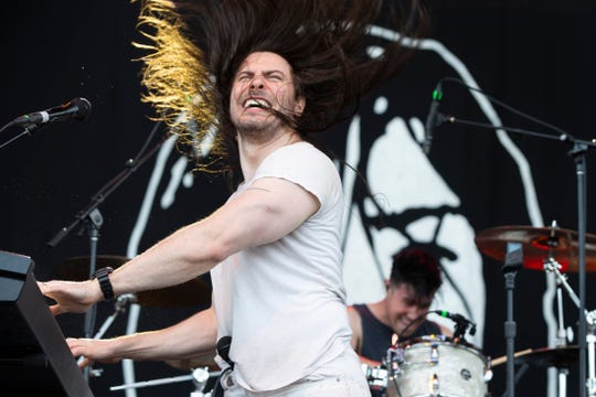 Andrew W.K. performs at the Uline Warehouse on June 27, 2019.