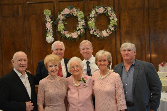 Stella Hobdy of Hayneville, a former teacher with Montgomery schools, celebrated her 100th birthday with family and friends on March 3.
