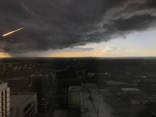 Nashville was put under a severe thunderstorm warning until 6:15 p.m. Thursday.