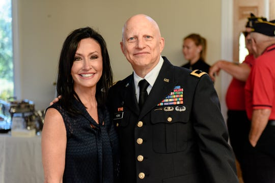 Patriot Angels CEO Suzette Graham is pictured with Maj. Gen. Daniel York.