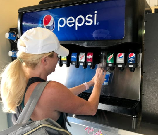The drink kiosks at Holiday World allow parkgoers to get as many drinks as they like.
