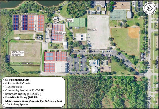 Phase 1 of the East Naples Community Park master plan.