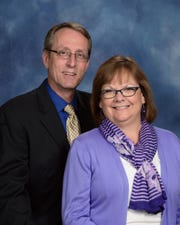 Retiring Pastor Jeff Belt and his wife, Debbie