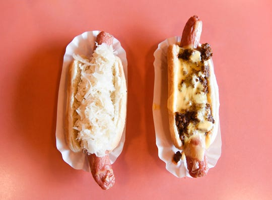 Joe's Hotdogs serves classic NYC-style dogs, like these, from its cart in Fort Myers.