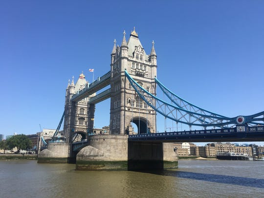 Tower Bridge in London. The Yankees and Red Sox play in England this weekend.